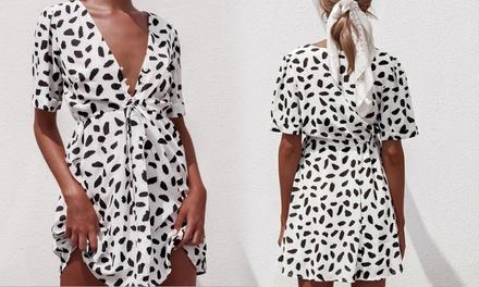 Fleck Printed Summer Dress