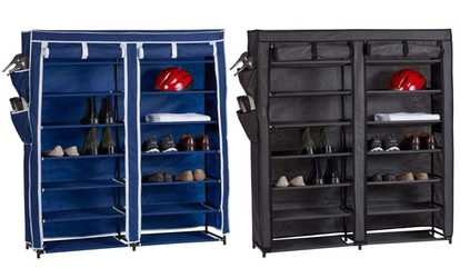 Shop Groupon Home Basics Portable Shoe And Wardrobe Storage Closet