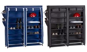 Home Basics Portable Shoe and Wardrobe Storage Closet
