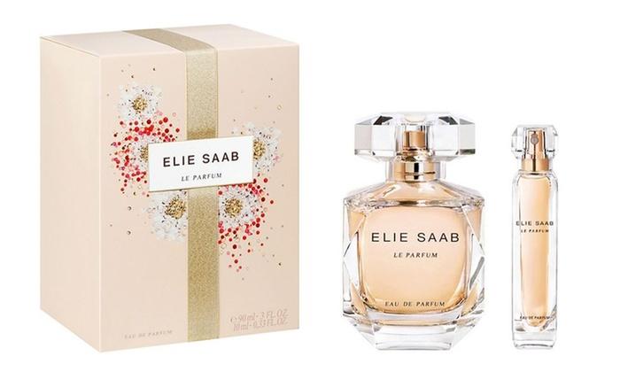 1 of 2 sets twee eau de parfums van 10 en 90 ml voor dames van Elie Saab