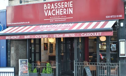 Three-Course Michelin-Listed French Meal with Coffee and Wine or Prosecco for Two at Brasserie Vacherin (Up to 50% Off)