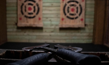 Axe-Throwing Session for Up to Eight Adults at Stumpy's Hatchet House (Up to 34% Off). Five Options Available.