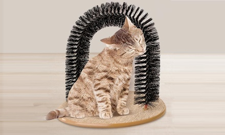 Arco de plástico masajeador para gato