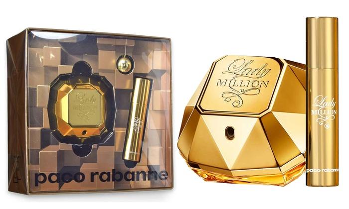Paco Rabanne 50ml Coffret Eau De Parfum Et Voyage 10ml Lady Million Format rCxeoBd