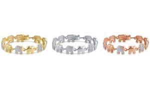 Diamond Accent Elephant Bracelet