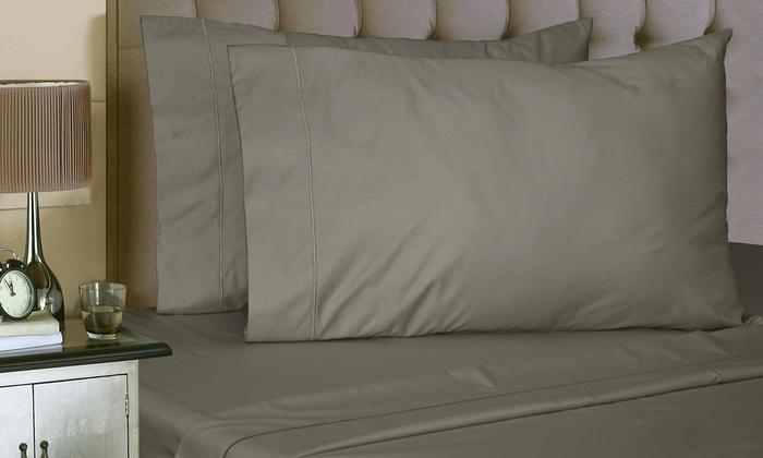 1000TC Cotton-Rich Solid Sheet Set (6-Piece): 1000TC Cotton-Rich Solid Sheet Set (6-Piece)