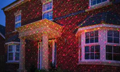 Outdoor led lighting and outdoor solar lights groupon shop groupon landscape laser light projector solutioingenieria Choice Image