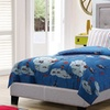 Paris Fabric Upholstered Platform Twin Bed