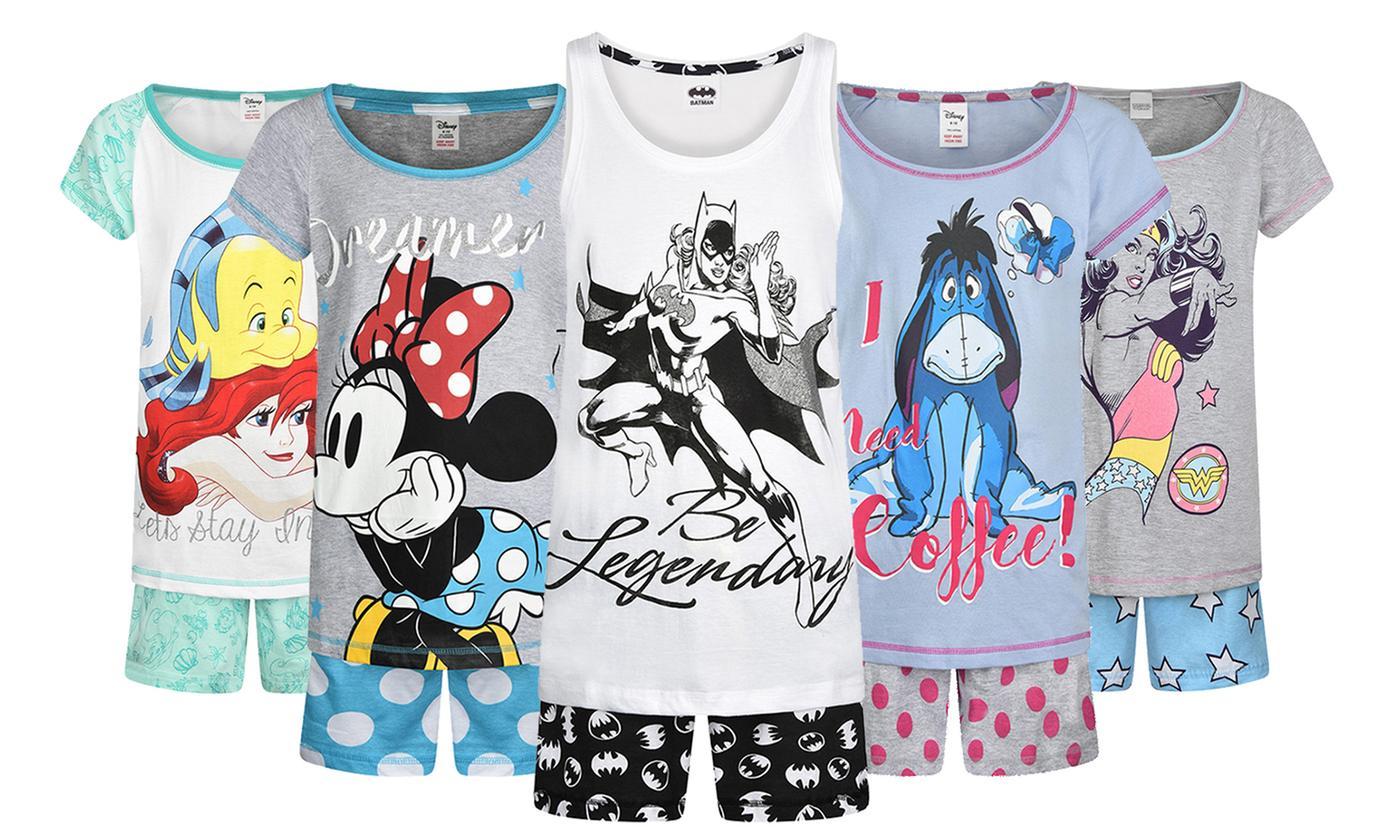 women's character short pyjamas