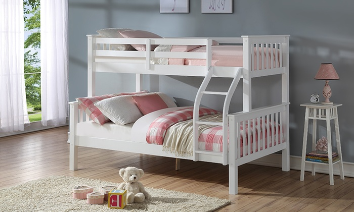 Harmony Triple Sleeper Solid Wood Bunk Bed with Optional Ortho Mattresses