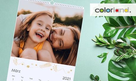 Personalisierter Foto-Kalender XL, A4 oder A3 mit Start-Monat nach Wahl von Colorland