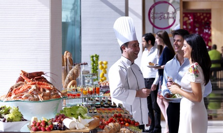 International or Themed Buffet with Drinks for Up to Four at Fairmont Bab Al Bahr (Up to 64% Off)