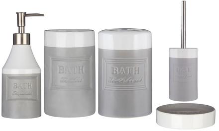 Vida Stoneware Bathroom Accessories
