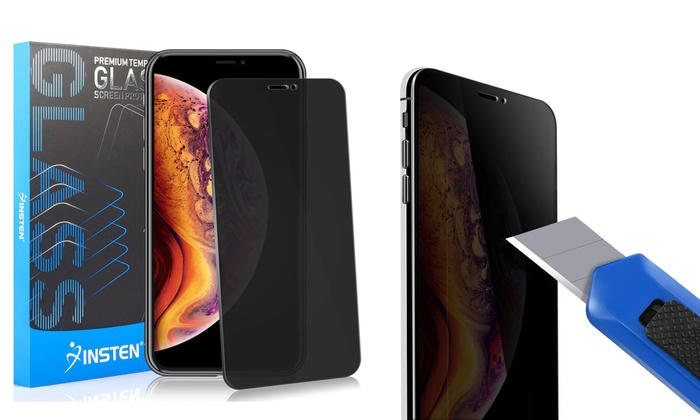purchase cheap 462dc fe7c7 Privacy Tempered Glass LCD Screen Protector Film for iPhone XS Max (2-Pack)