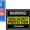 Indoor Security Stickers and Warning Sign Set (5-Piece)