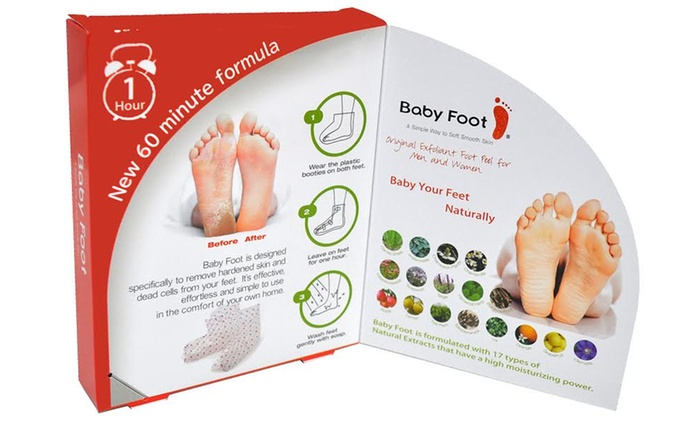 $16 for a Unisex Baby Foot Exfoliant Pack (Don't Pay $29.95)