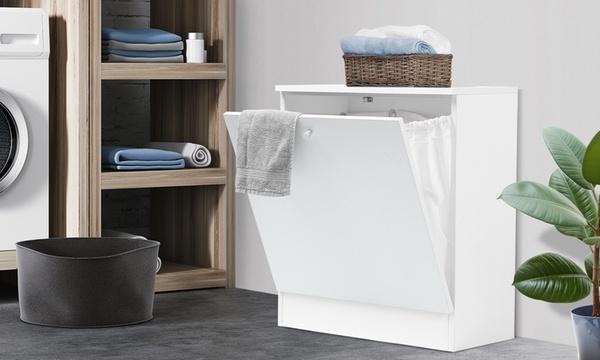 meuble avec bac a linge integre