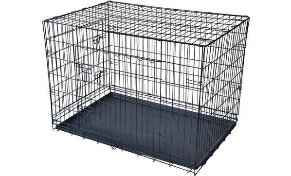 Wire Dog Crate With Divider   Pet Kennel Cat And Dog Folding Crate Wire Metal Cage With Divider