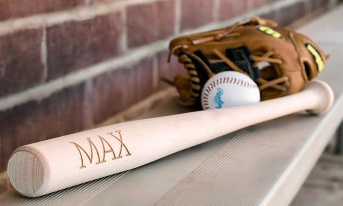 Pillows2: Personalized Kids Baseball Bats (Up to 53% Off)