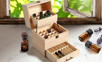 Essential Oil Wooden Storage Box