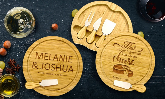 Up To 51 Off Five Piece Cheese Board Set Groupon