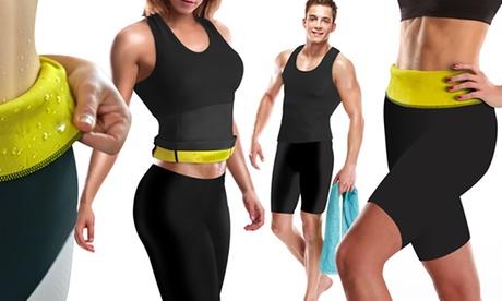 Pantalón, cinturón o top con efecto sauna, con opción al set entero