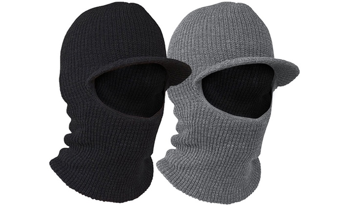 Evelots 2-in-1 Face Mask and Snuggle Hat (2-Pack)