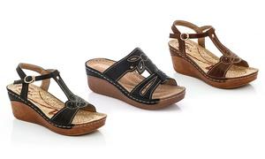 Lady Godiva Women's Open-Toe Wedge Sandals