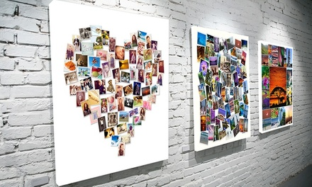 Personalised Photo Montage Canvas in Choice of Size and Design from AED 49 (Up to 81% Off)