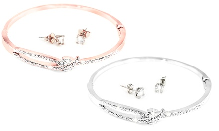 Isabella Bangle Earrings Set