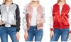Women's Lightweight Fashion Bomber Jacket: Women's Lightweight Fashion Bomber Jacket