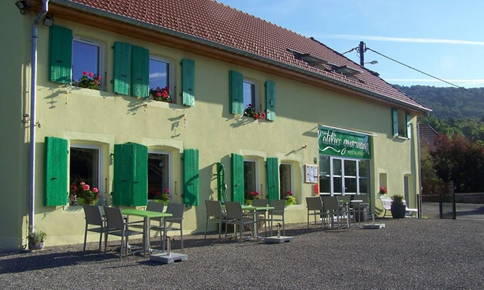 L'atelier Gourmand - Grosmagny: Menu en 4 services pour 2 personnes à 59,90 € au restaurant L'Atelier Gourmand