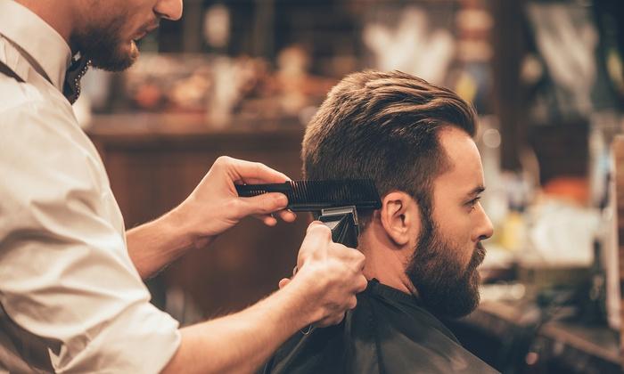 Coupe pour homme barbier