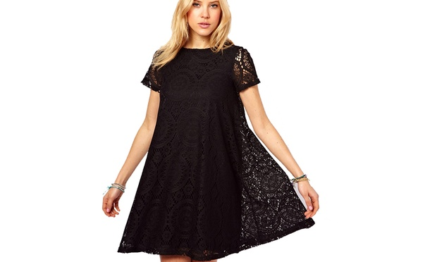 Short Sleeved Loose Lace Dress: One ($15) or Two ($25)
