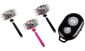 Selfie Stick With Bluetooth Remote For Most Smartphones