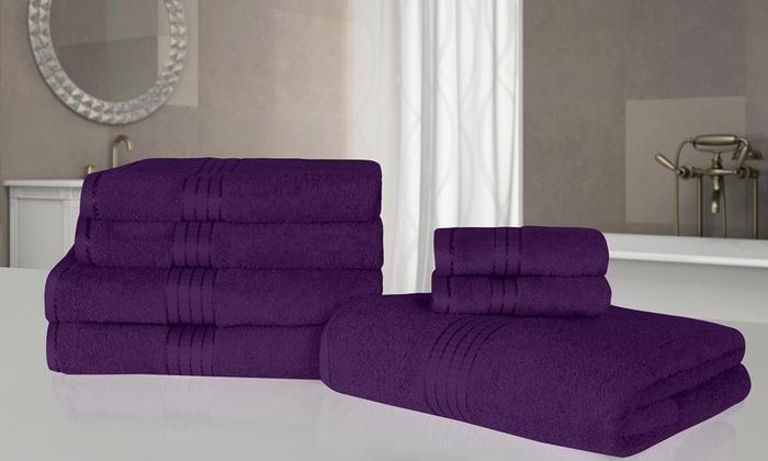 7 teiliges handtuch set groupon. Black Bedroom Furniture Sets. Home Design Ideas