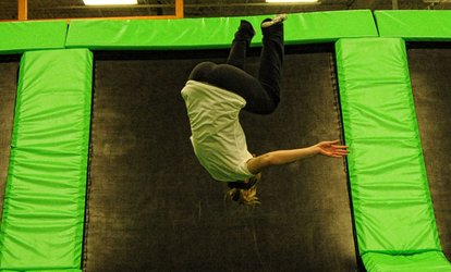 image for One Hour of Jump Time or Three-Hour All-You-Can-Play Weekend Package at AirMaxx Trampoline Park (Up to 48% Off)