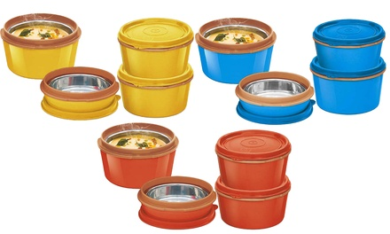 Microwave-Safe Bento Lunch Box Set (3- or 6-Piece)