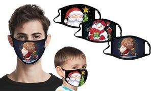 Masques imprimés de Noël
