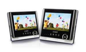 "Coby 7"" Dual-screen Portable Tablet Dvd Player (refurbished)"