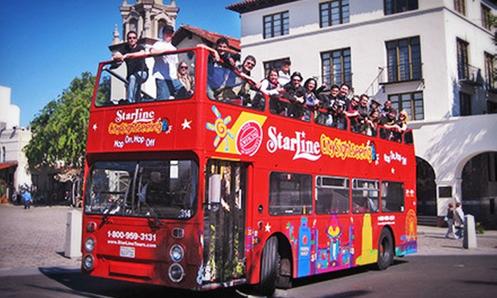 Starline Tours - Multiple Locations: 24-Hour Hop-On, Hop-Off Bus Tour for One, Two, or Four from Starline Tours (Up to 55% Off)