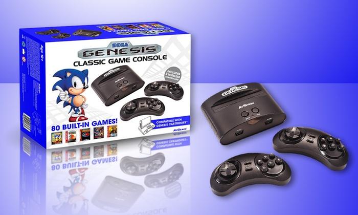 Sega genesis classic console groupon goods - Sega genesis classic console with built in games ...