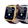 Elegante Smartwatch mit Lederarmband