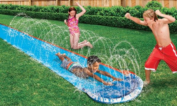 tapis de glisse a 16 jets d eau banzai