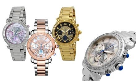 JBW Victory Women's Diamond Studded Chronograph Watch