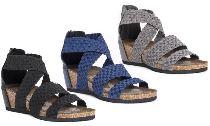 7c954c5d2acd Muk Luks Elle Women s Wedge Sandals