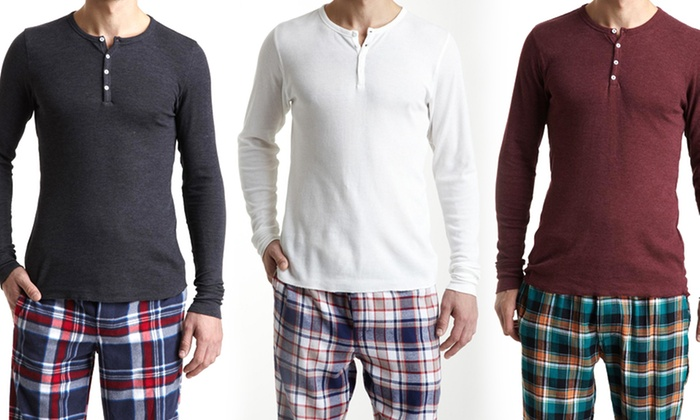 Bottoms Out Men's Thermal Henley Tops: Bottoms Out Men's Thermal Henley Top. Multiple Colors Available. Free Shipping and Returns.