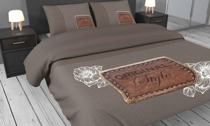 parure de lit en satin groupon shopping. Black Bedroom Furniture Sets. Home Design Ideas