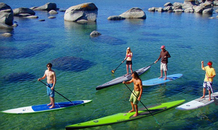 Tahoe Paddle & Oar - Downtown Kings Beach: $45 for One 2.5-Hour Guided Kayak or Standup Paddleboard Trip with Lunch at Tahoe Paddle & Oar ($105 Value)