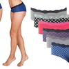 Women's Cotton and Spandex Lace Hipster Panties (8-Pack)